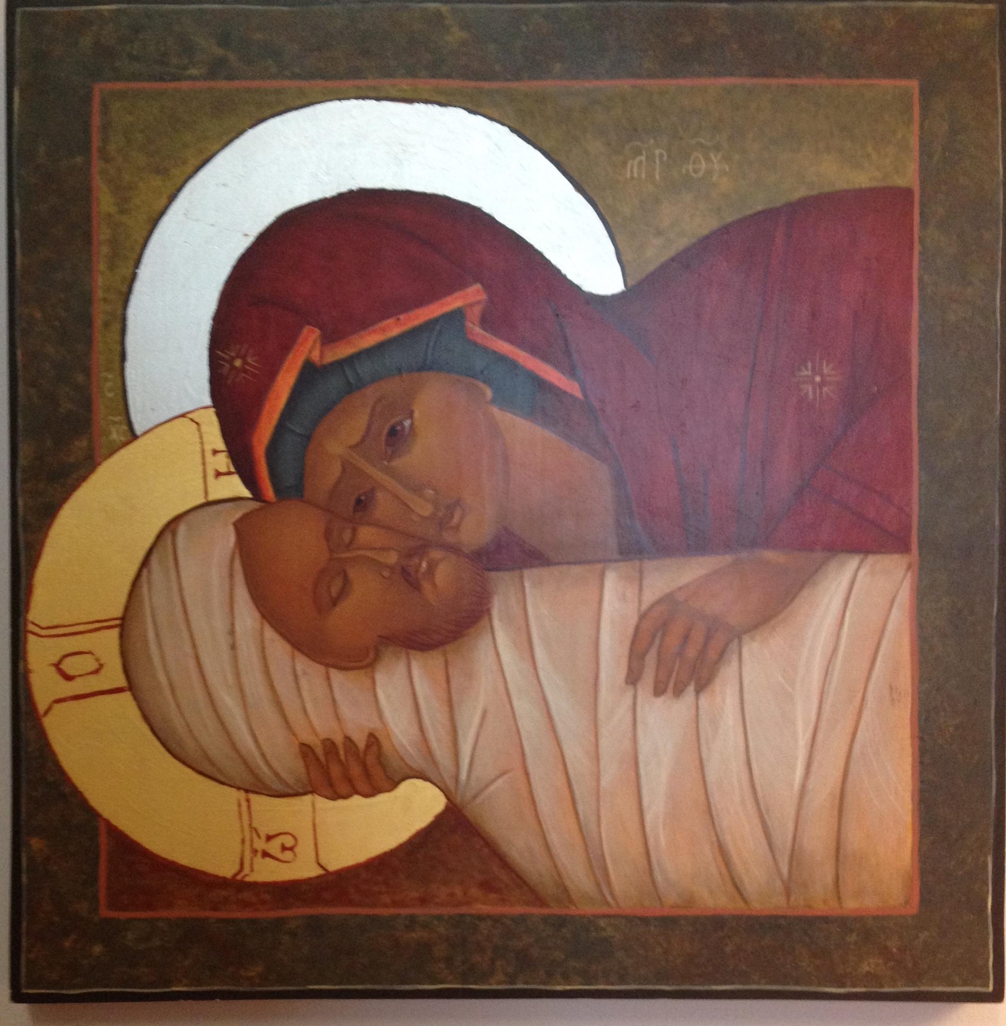 Marie a connu la douceur de Jésus dans images sacrée mary-jesus-icon